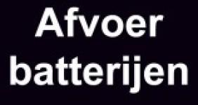 Afvoer batterijen