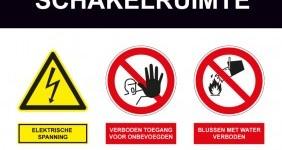veiligheidsbord schakelruimte bestellen advies en kopen veiligheidssignalering