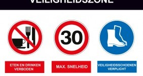 veiligheidszone signalering Veiligheidsbord