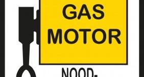 Gas motor Noodschakelaar – veiligheidsbord