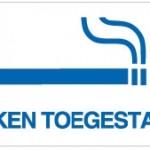 501288 Roken toegestaan 20x10